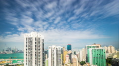 Time lapse aerial view of Hong Kong - stock footage