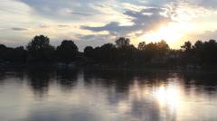 Timelapse  river sunset landscape Stock Footage