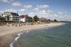Beach and coast Niendorf Ostsee Timmendorfer beach Bay of Lubeck - stock photo