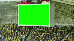 Scoreboard at the stadium with a green screen Stock Footage