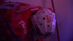 YAROSLAVL, RUSSIA - OCTOBER 5: KHL GAME Lokomotiv Yaroslavl - Vityaz Podolsk Stock Footage