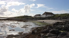 Berneray Hostel Stock Footage