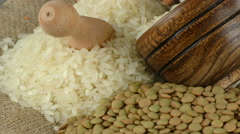Legumes Delicious and Healthy Natural  Mix Food Stock Footage