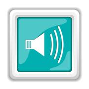 Stock Illustration of Speaker icon. Internet button on white background..