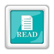 Read icon. Internet button on white background.. - stock illustration