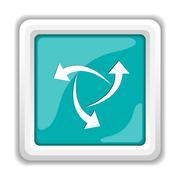 Stock Illustration of Change icon. Internet button on white background..