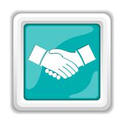 Stock Illustration of Agreement icon. Internet button on white background..