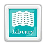 Stock Illustration of Library icon. Internet button on white background..