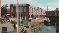 City scene, Dusseldorf, Germany Stock Footage