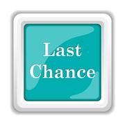 Stock Illustration of Last chance icon. Internet button on white background..
