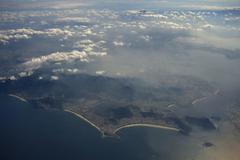 Stock Photo of Aerial view with beaches and city center Rio de Janeiro Brazil South America