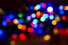 blurred christmas lights abstract background - stock photo