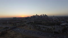 Denver Sunrise Aerial Shot Stock Footage