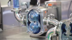 Rotary pumps for conveying fluids in the low to high viscosity range Stock Footage