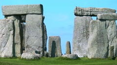 View through the center of Stonehenge - stock footage