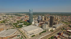 Aerial Oklahoma Oklahoma City - stock footage
