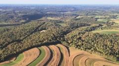 Aerial Western Pennsylvania Landscape Stock Footage
