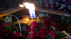 The eternal flame burns Stock Footage