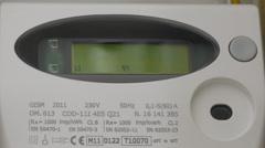 Modern electric smart meter Stock Footage
