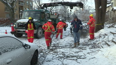 Ontario ice and freezing rain winter storm damage Arkistovideo