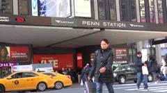 Establishing shot of Penn Station in New York City. Stock Footage