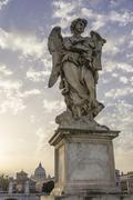 Statue angel sculpture on the Ponte Sant39Angelo Rome Lazio Italy Europe Kuvituskuvat