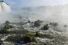 Parque Nacional do Iguacu or Iguazu National Park Foz do Iguacu Parana State - stock photo