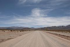 Ruta 40 Paso de Sico or Sico Pass Andes Mountain pass to Chile San Antonio de Stock Photos