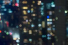 City night lights blurred bokeh - stock photo