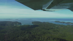 Aerial Footage of a flight over Horseshoe and Halfmoon Bay, New Zealand Stock Footage