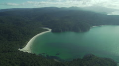 Bay in Stewart Island, New Zealand - stock footage