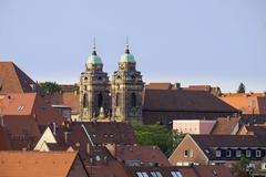 Stock Photo of Egidienkirche church Sebalder Altstadt Nuremberg Middle Franconia Franconia