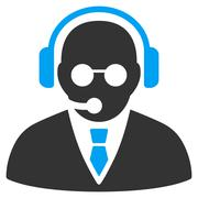Support Manager Icon - stock illustration