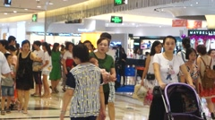 Shenzhen shopping mall interior landscape in China - stock footage