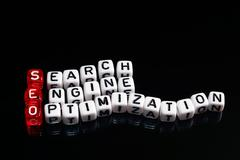 SEO Search Engine Optimization black - stock photo