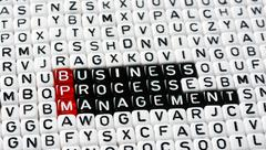 Stock Photo of BPM Business Process Management black