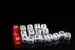 MLM Multi Level Marketing black Stock Photos