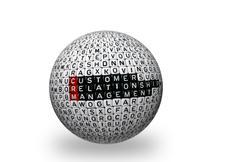 CRM Consumer Relationship Management 3d - stock photo