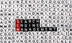 Stock Photo of SEM Search Engine Management