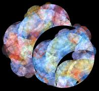 Stock Illustration of 3d abstract fractal illustration background for creative design