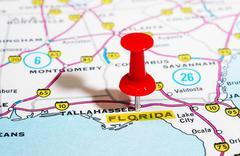 Florida  USA map - stock photo