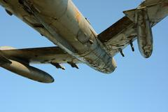 Airplane fighter Stock Photos