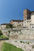 Stock Photo of Upper city Colle Alta Colle di Val dElsa Tuscany Italy Europe