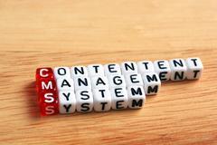 CMS Content Management System Stock Photos