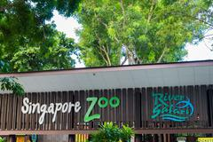 Singapore - AUGUST 3, 2014: Entrance to Singapore Zoo on August - stock photo