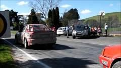 Car rally checkpoint. Stock Footage