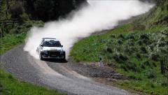 Emma Gilmour rally action. Stock Footage