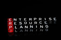 ERP Enterprise Resource Planning black - stock photo