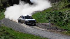 Ford Escort RS1800 classic rally car action. Stock Footage