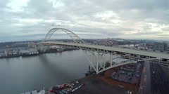 Aerial Oregon Portland - stock footage